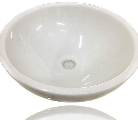 Lavabo trắng muối